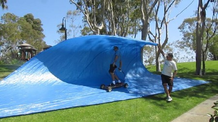 Tarp Surfing at the Park! Triangles, Squares, Retangles, you name it...it's all Tarp Surfing…photo first posted December 11, 2010…see Dirt Boarding Tag...Triangle Tarps at the Park