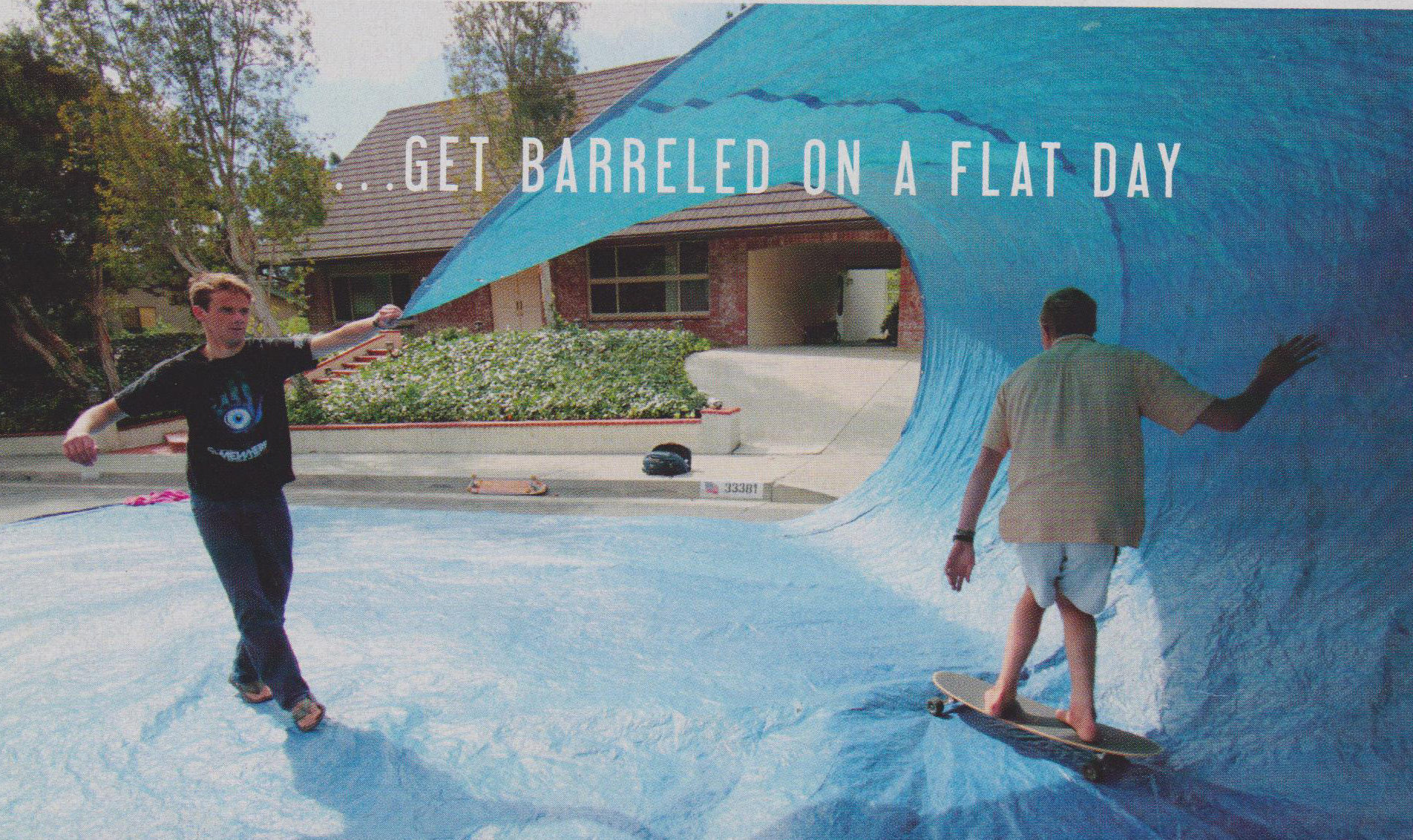 Blue Tarp Surfing