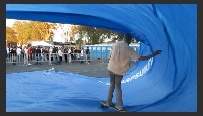 Tarp Surfing Events!! Tarp Surfing at the Rockstar UPROAR Festival!