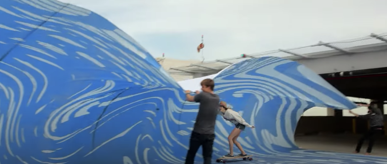 Subaru Tarp Surfing Ad