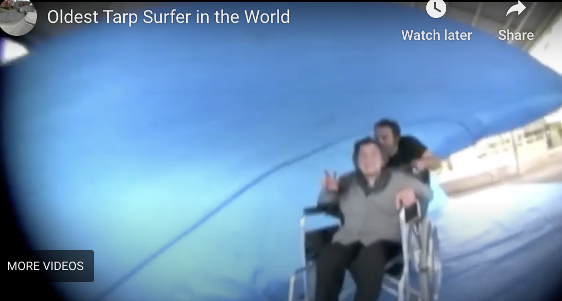 World's Oldest Person to Tarp Surf…now 100 years old